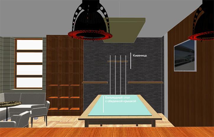 Дизайн и ремонт бильярдной комнаты